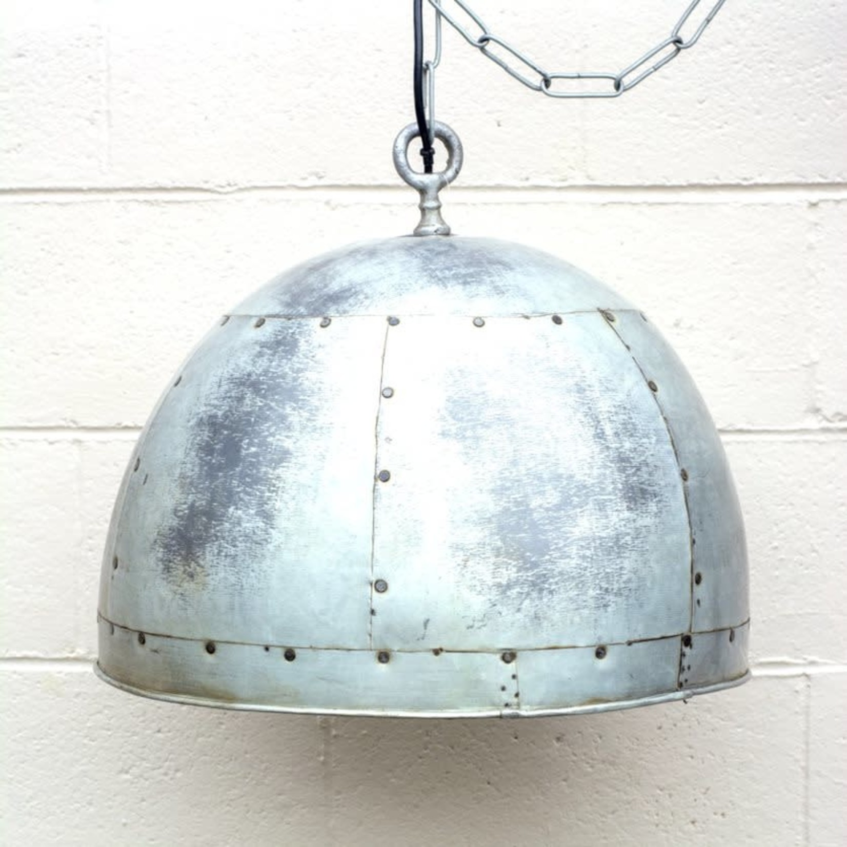Recycled Tin Dome Light