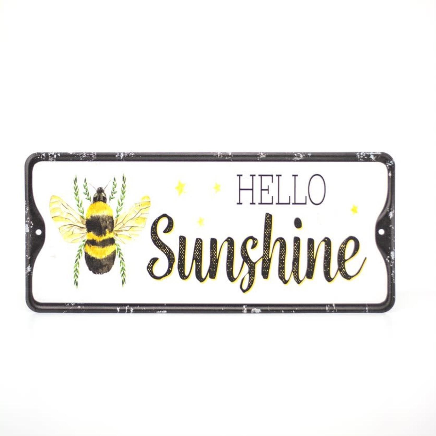 Enamel Bee Sign