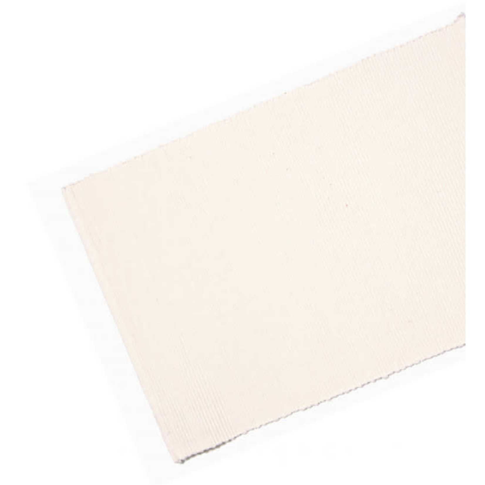 Table Runner Ribbed - White