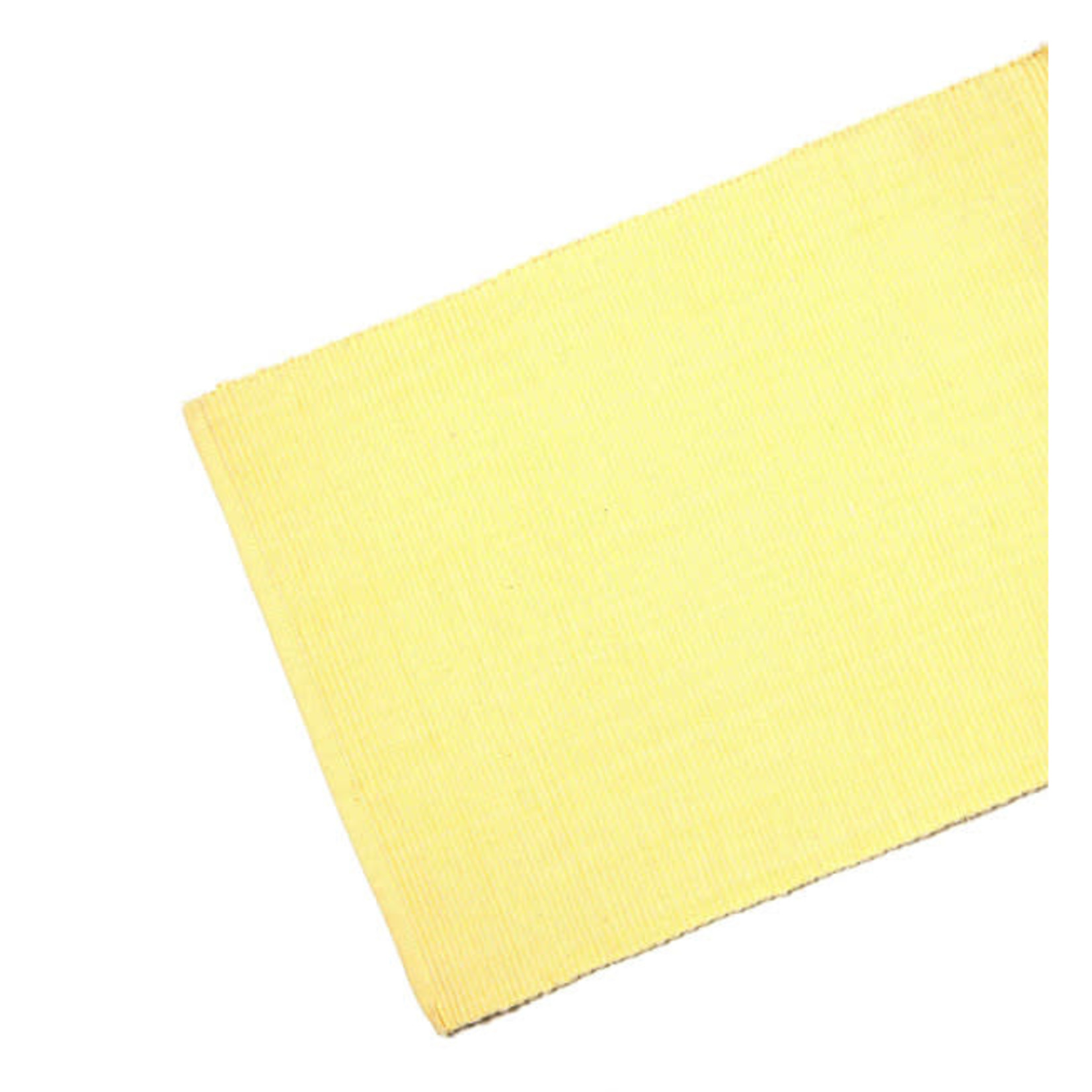 Table Runner Ribbed - Butter Yellow