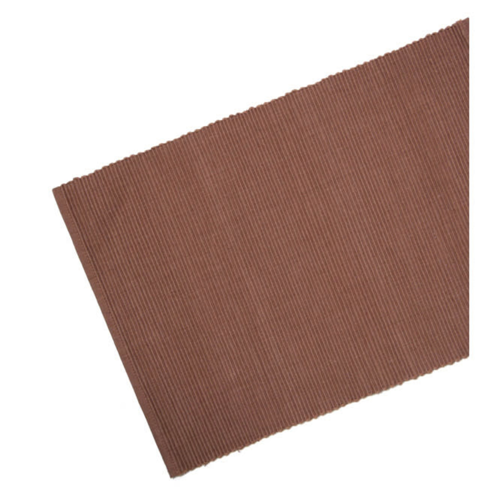 Table Runner Ribbed - Spice Brown