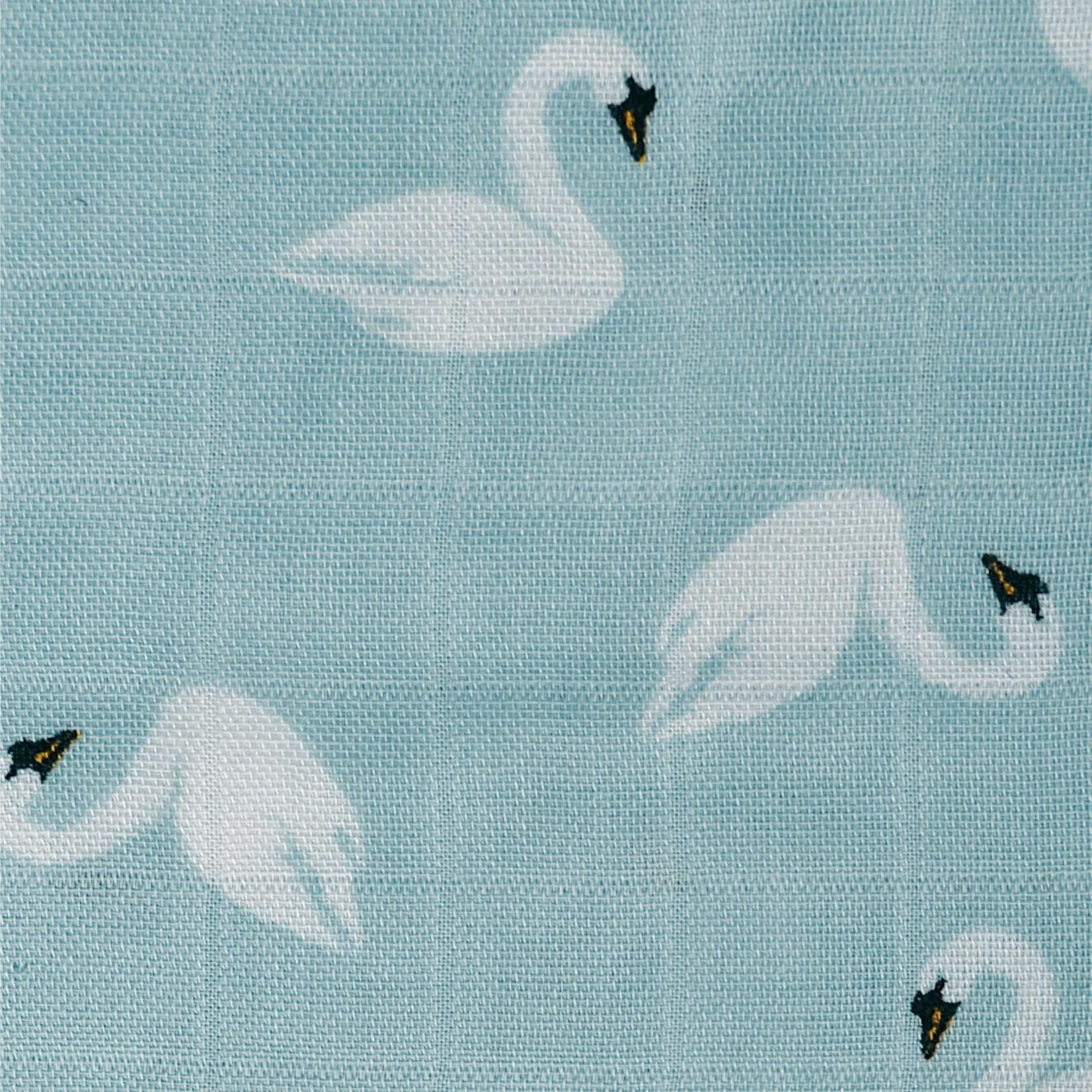 Bamboo Muslin Swaddle - Swans