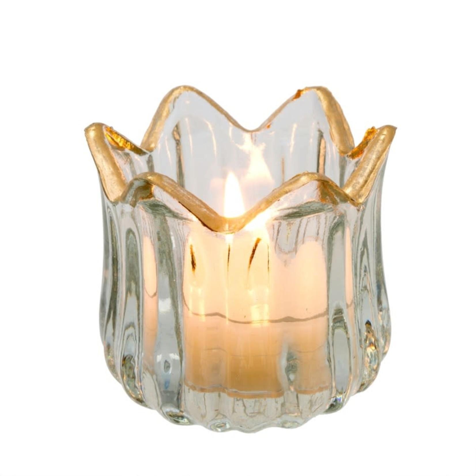 Golden Rim Tealight Holder