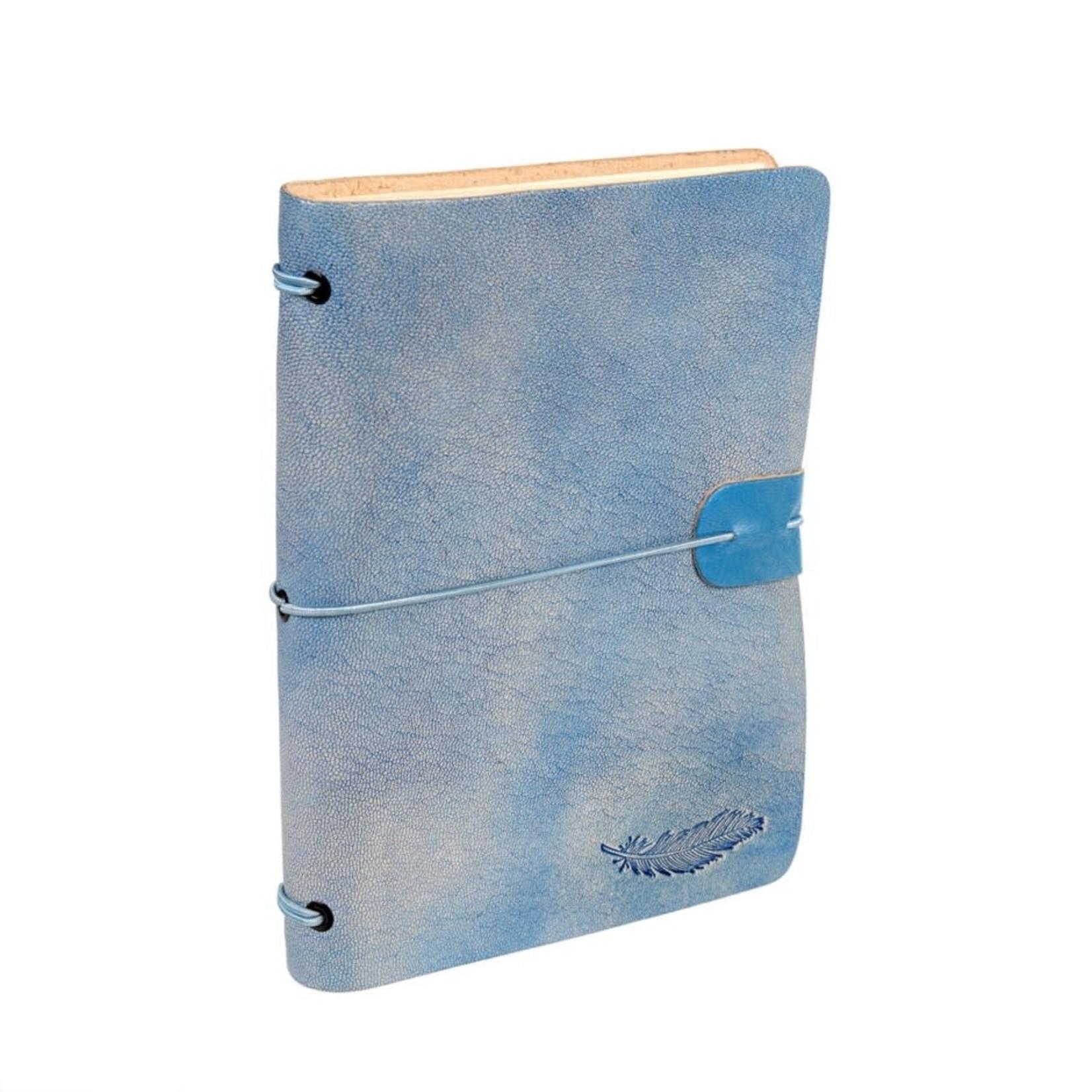 Leatherbound Notebook -  Light Denim
