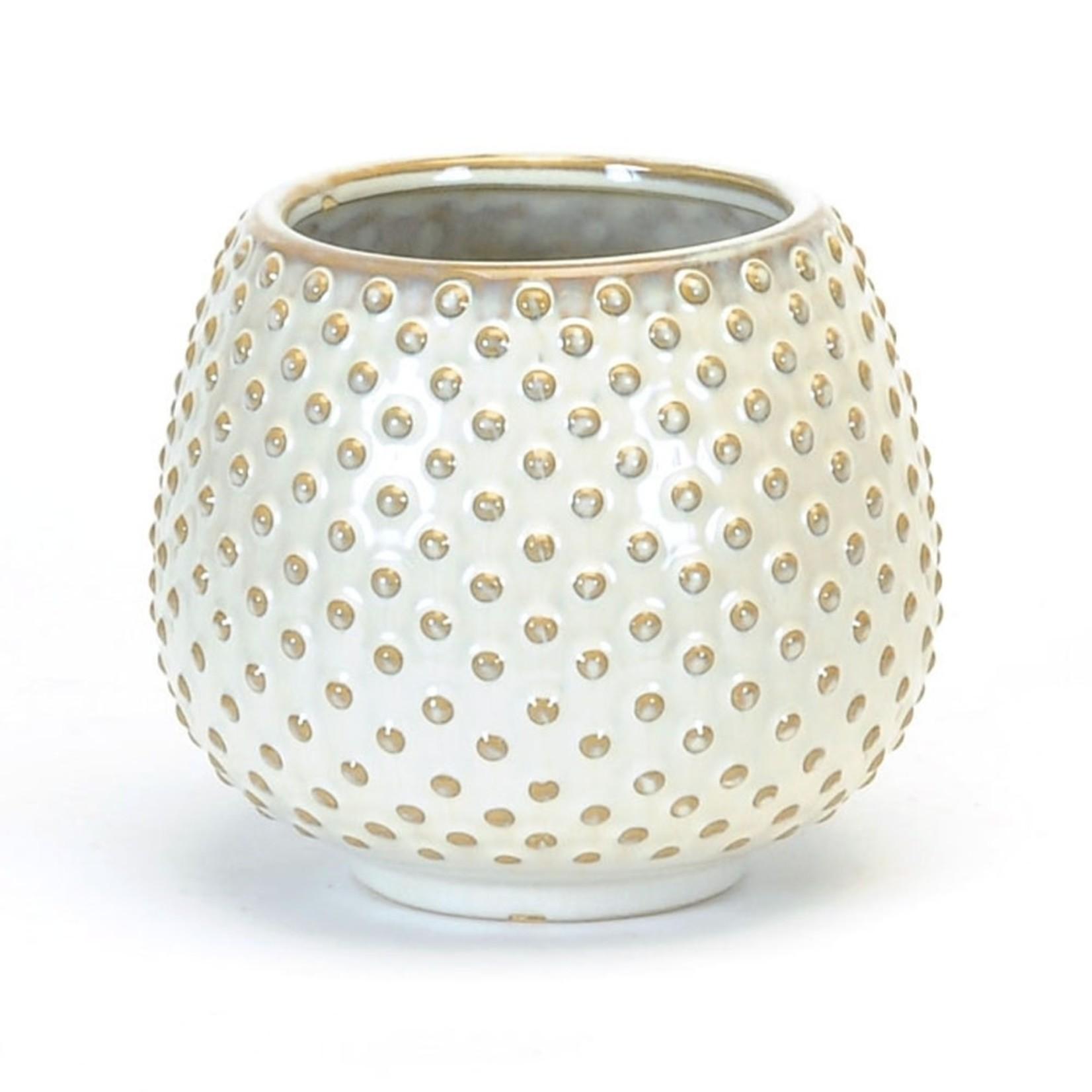 Round White Pot - Large