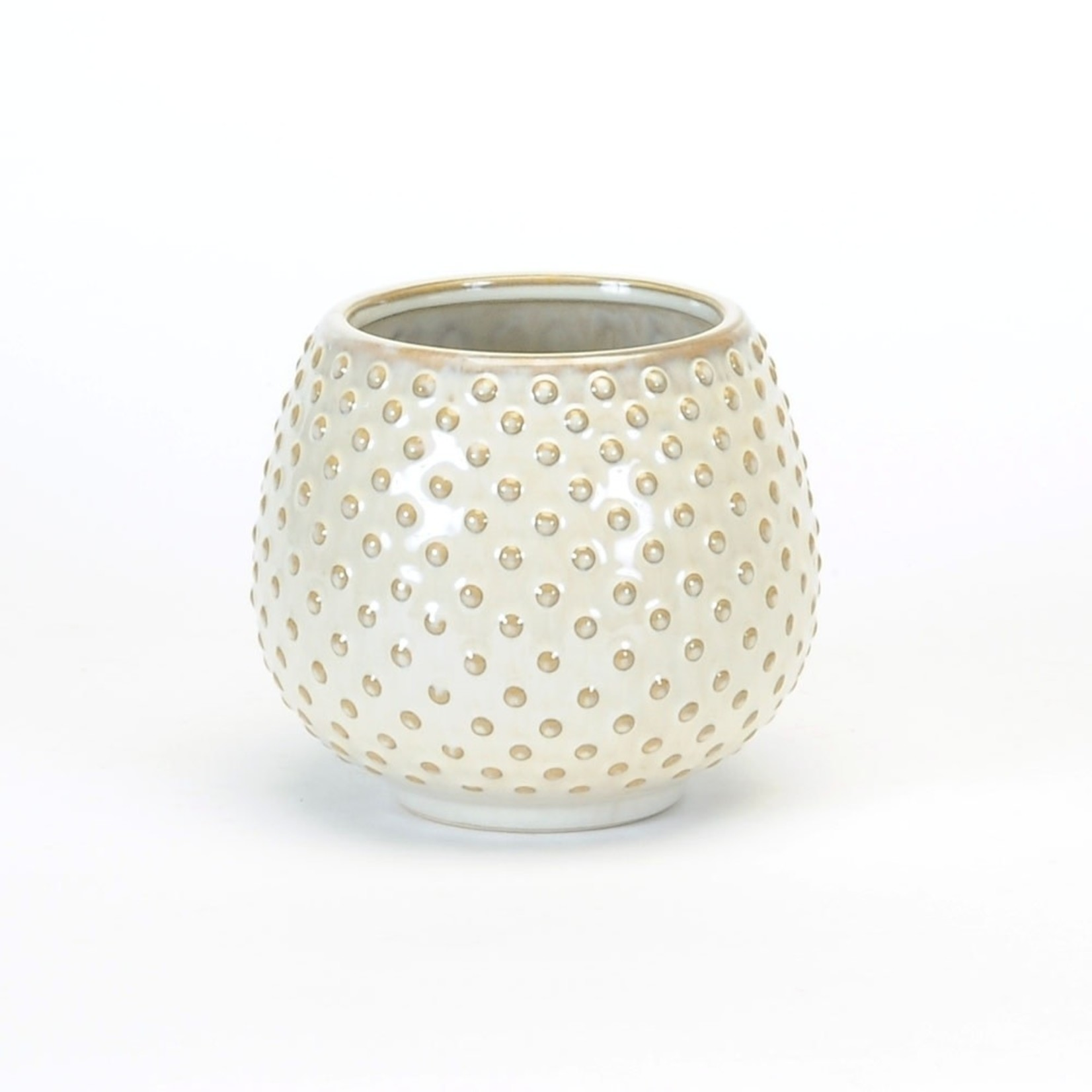Round White Pot - Small