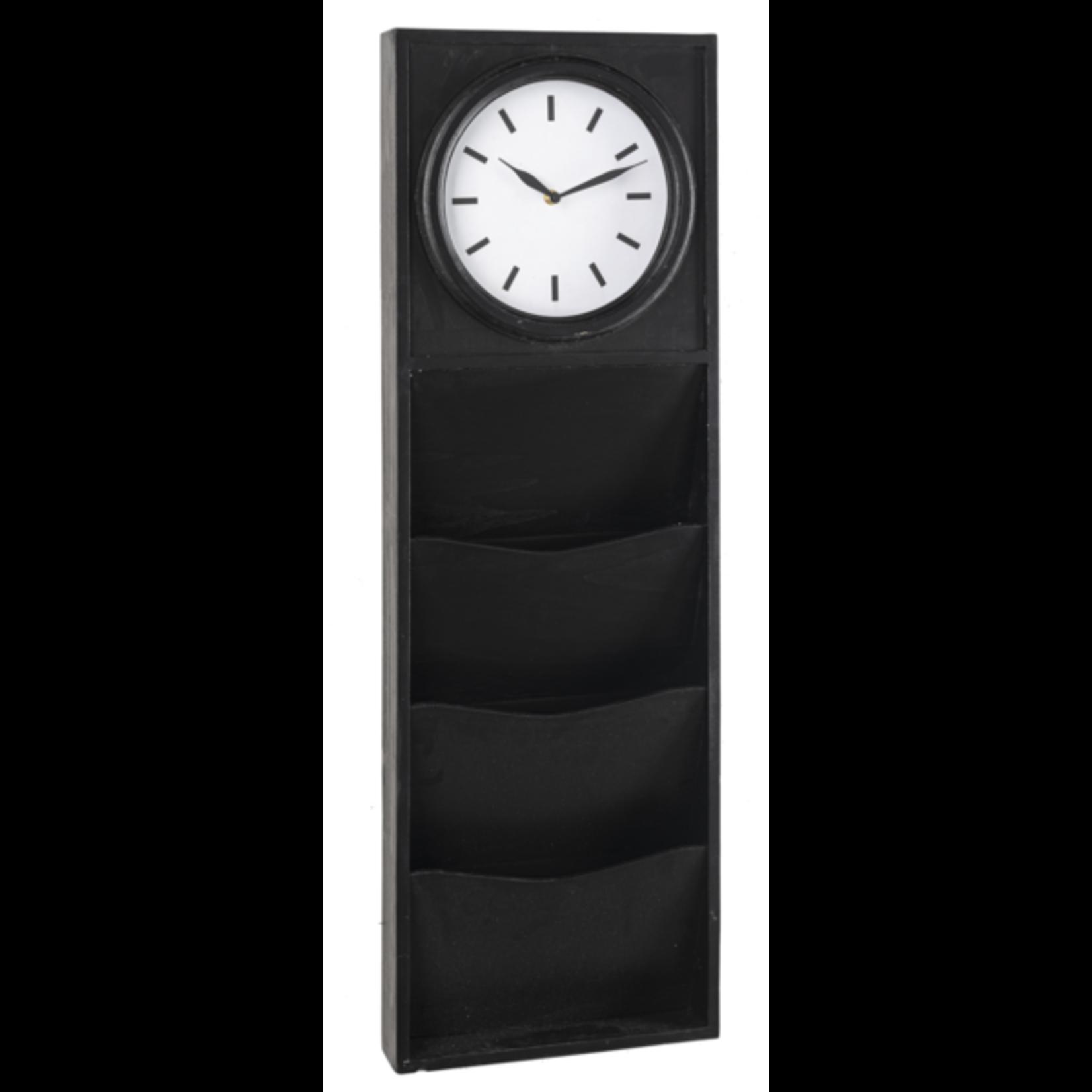 Black Three Pocket Wall Clock