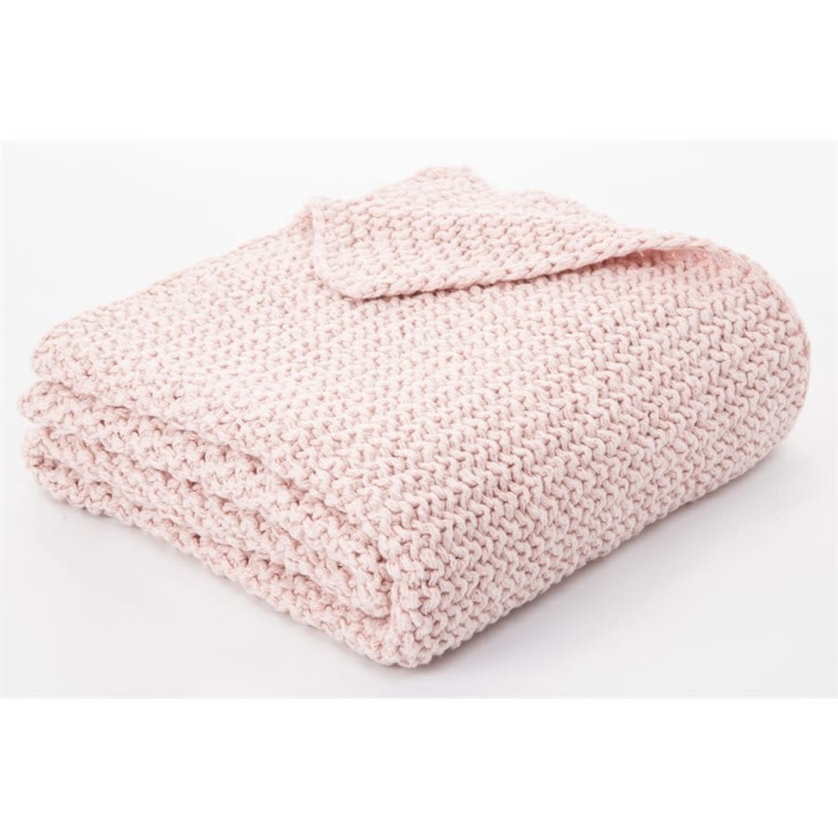 Bulky Pink Knitted Throw