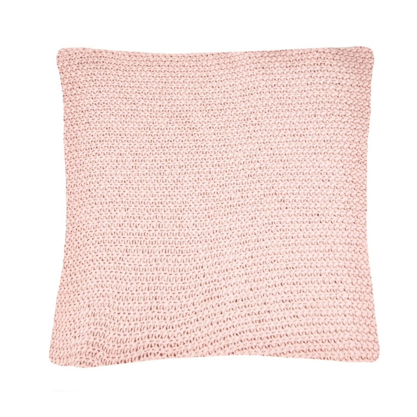 Bulky Pink Knitted Cushion