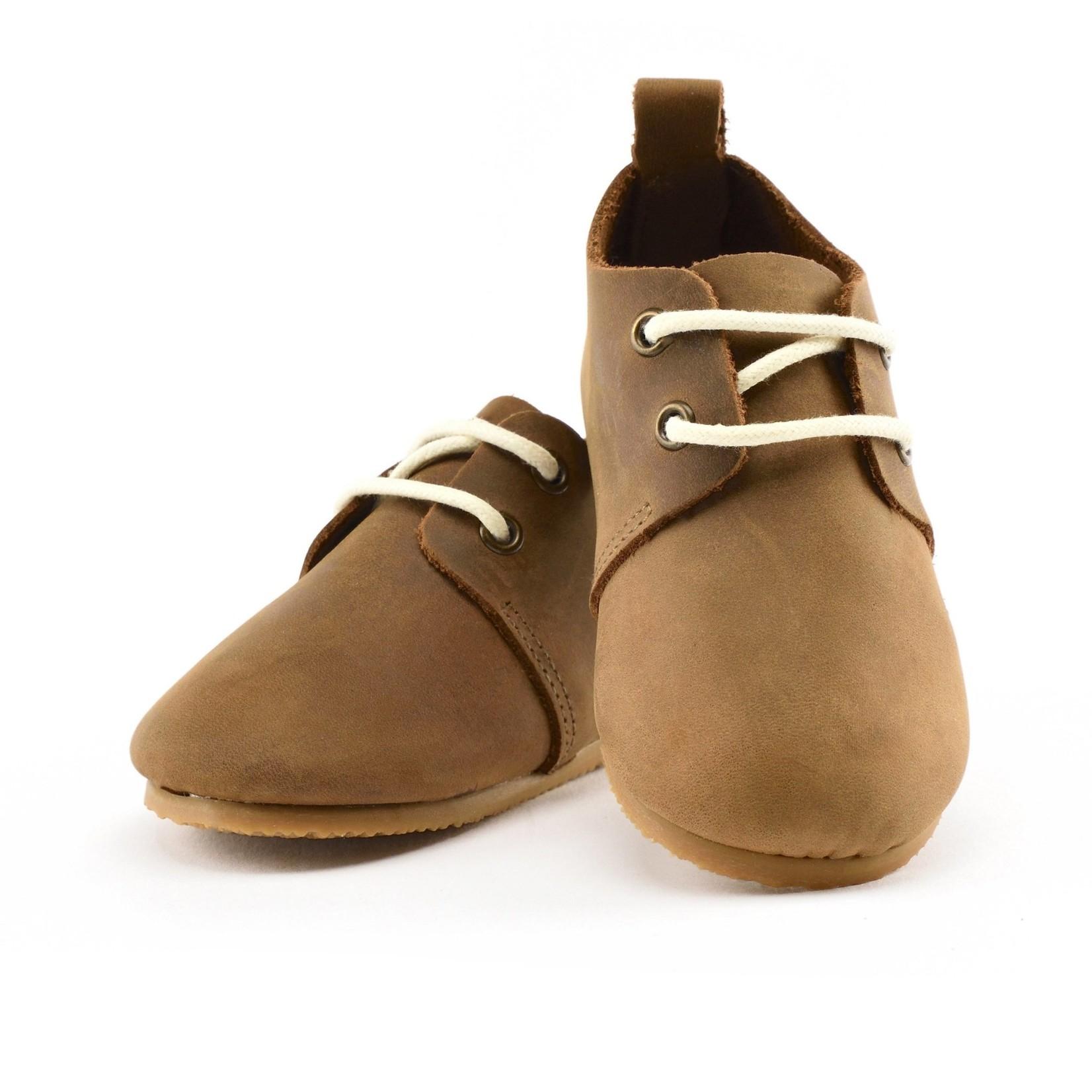 Premium Leather Oxfords - Brown - Hard Sole
