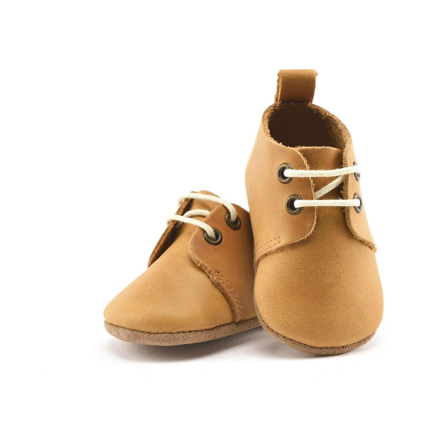 Premium Leather Oxfords - Natural - Soft Sole