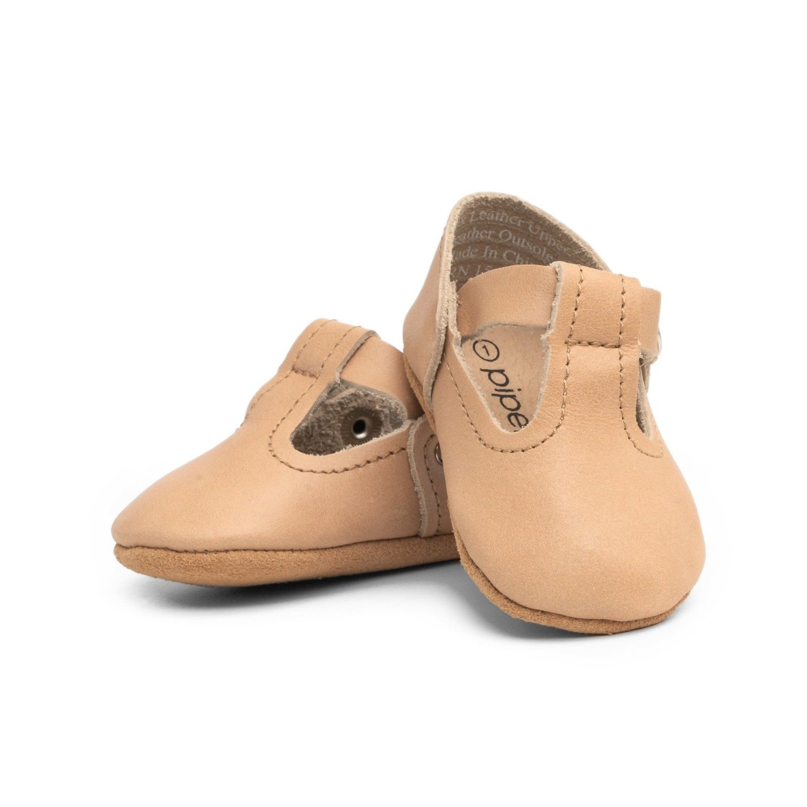T-Strap Mary Jane - Tan -  Soft Sole