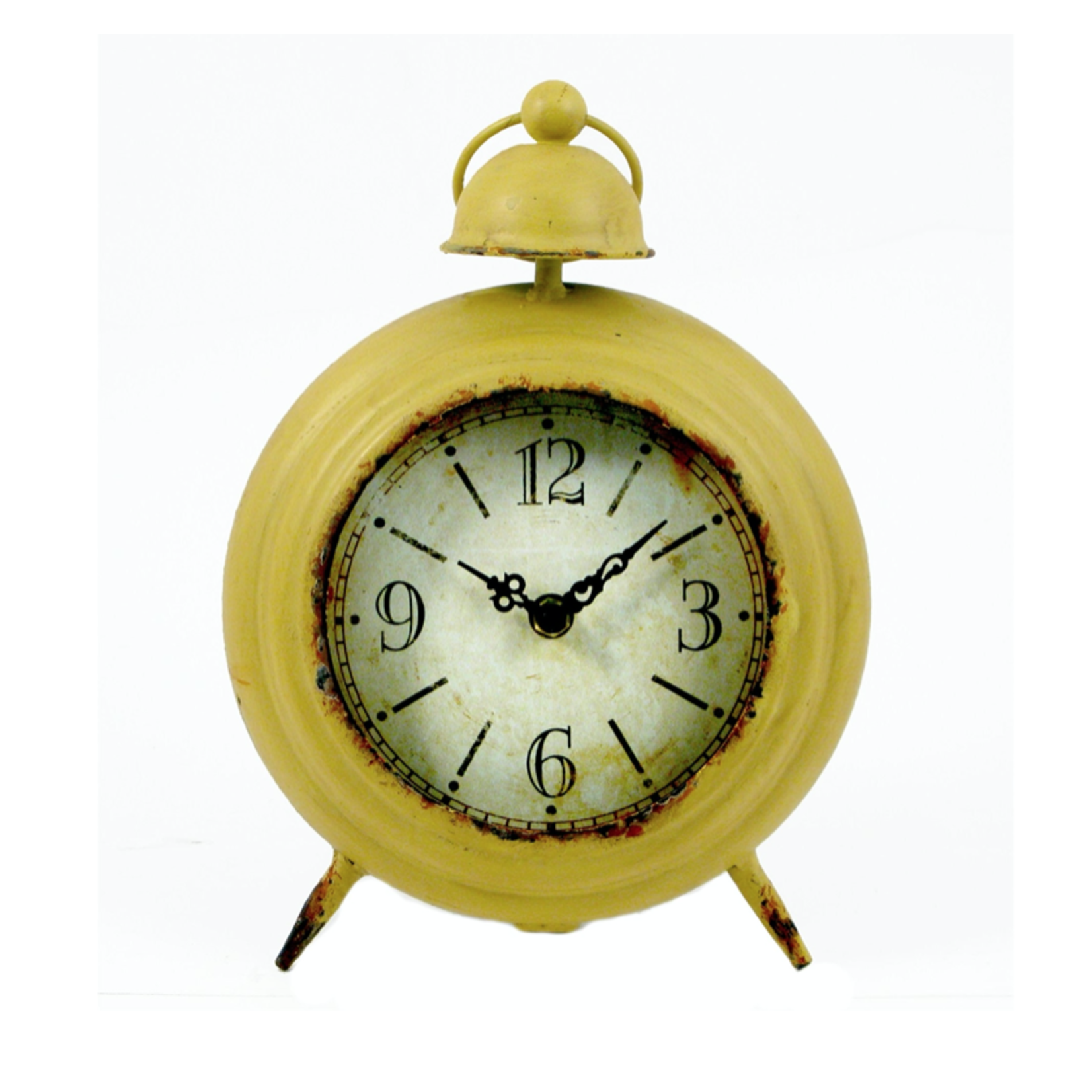 Yellow Vintage Table Clock