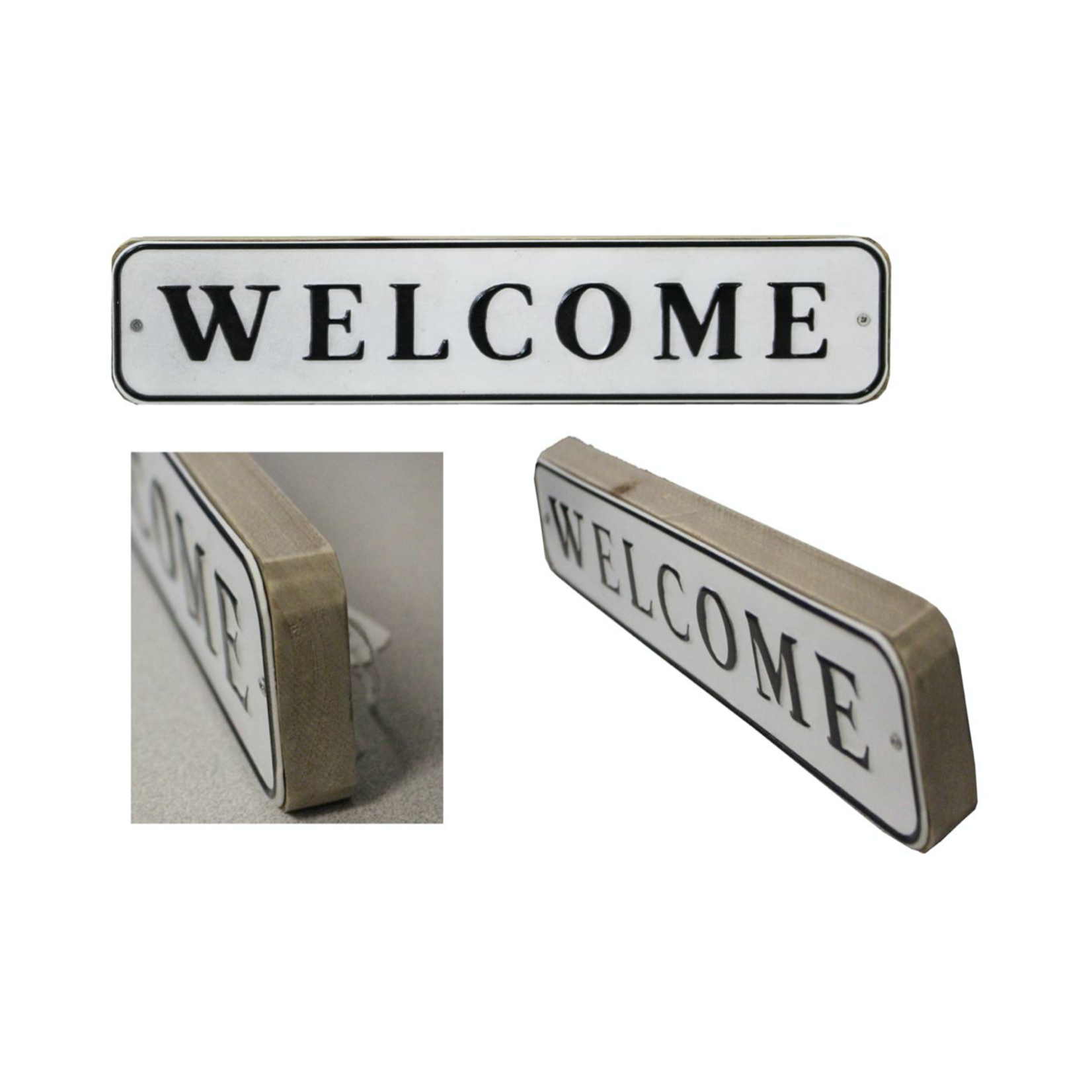 Welcome Block Sign