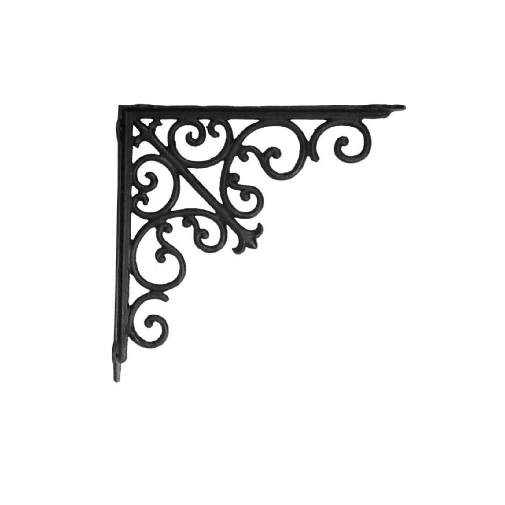 Victorian Shelf Bracket - Medium Black