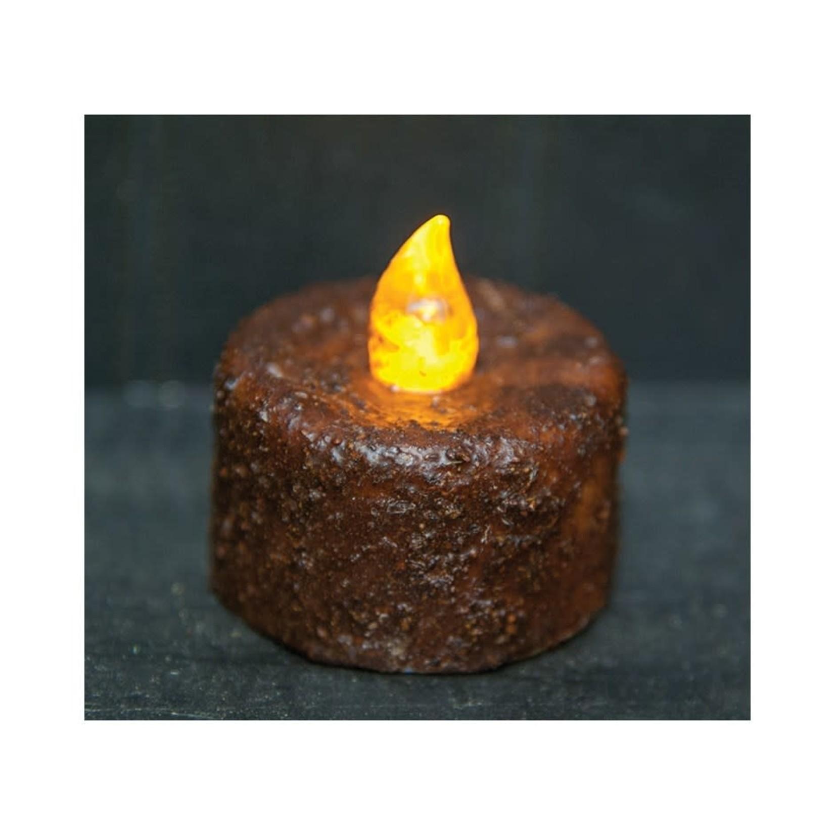 Burnt Mustard Timer Tealight