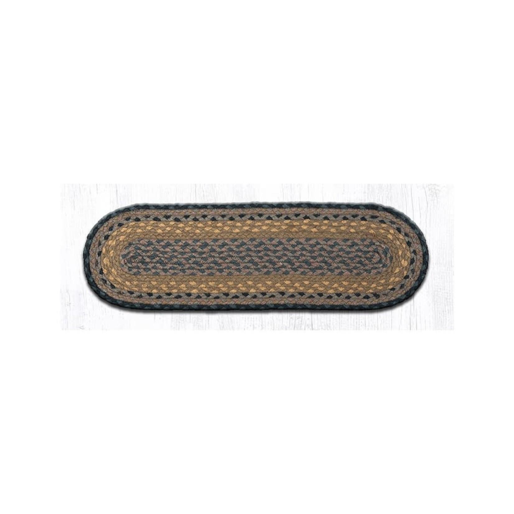 C-99 Brown/Black/Charcoal Braided Rug