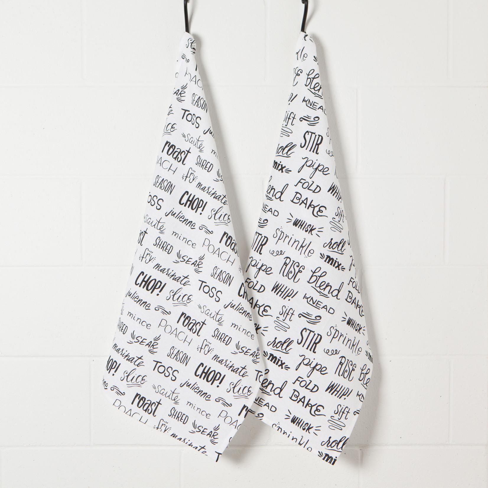 Tea Towel - Black - Set/2