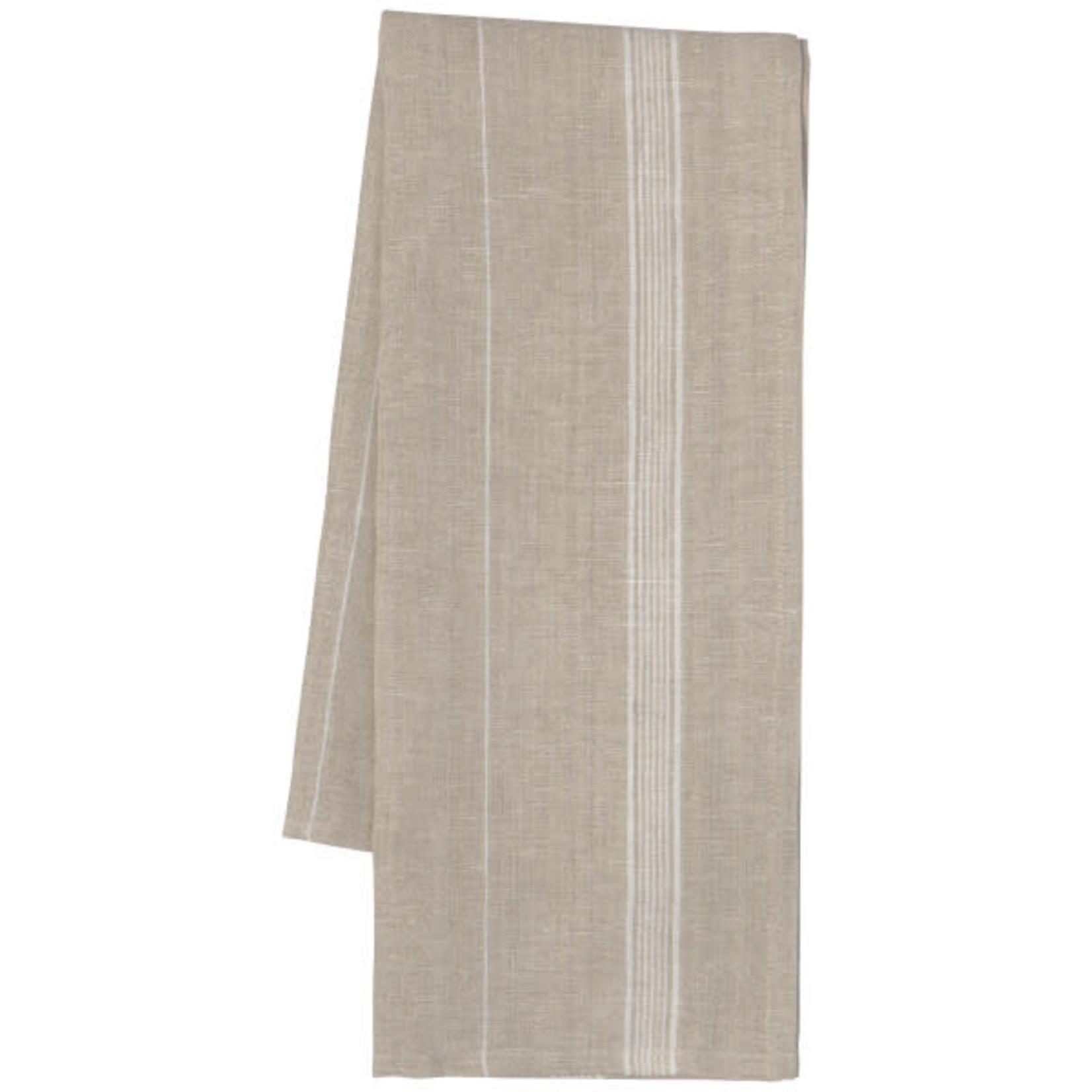White Maison Stripe Linen -  Tea Towel