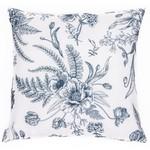 Vintage White Flowered Cushion