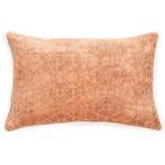 Toro Oblong Terracotta Jacquard Velvet Cushion