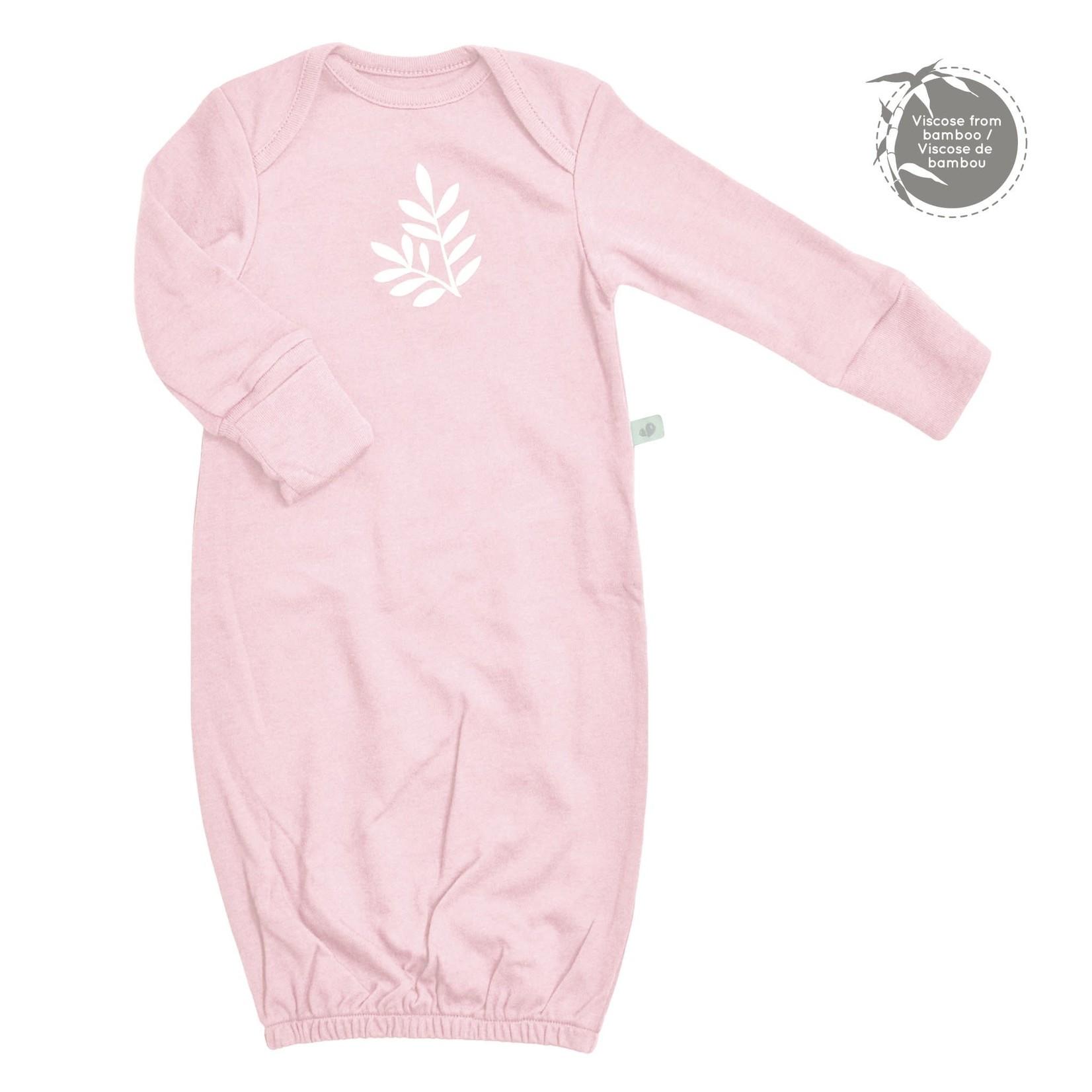 Bamboo Nightgown - Leaves - Light Pink - Newborn