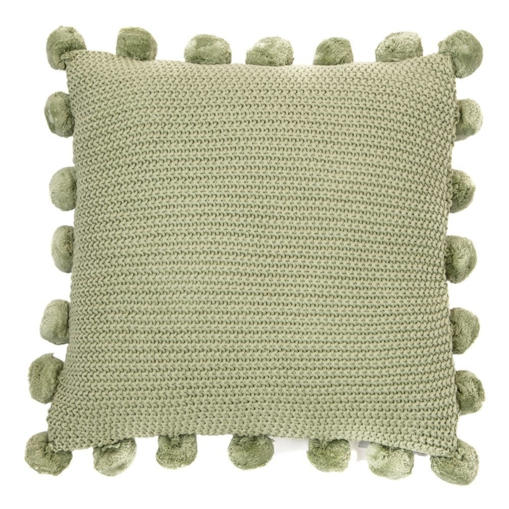 Couscous Knitted Sage Cushion