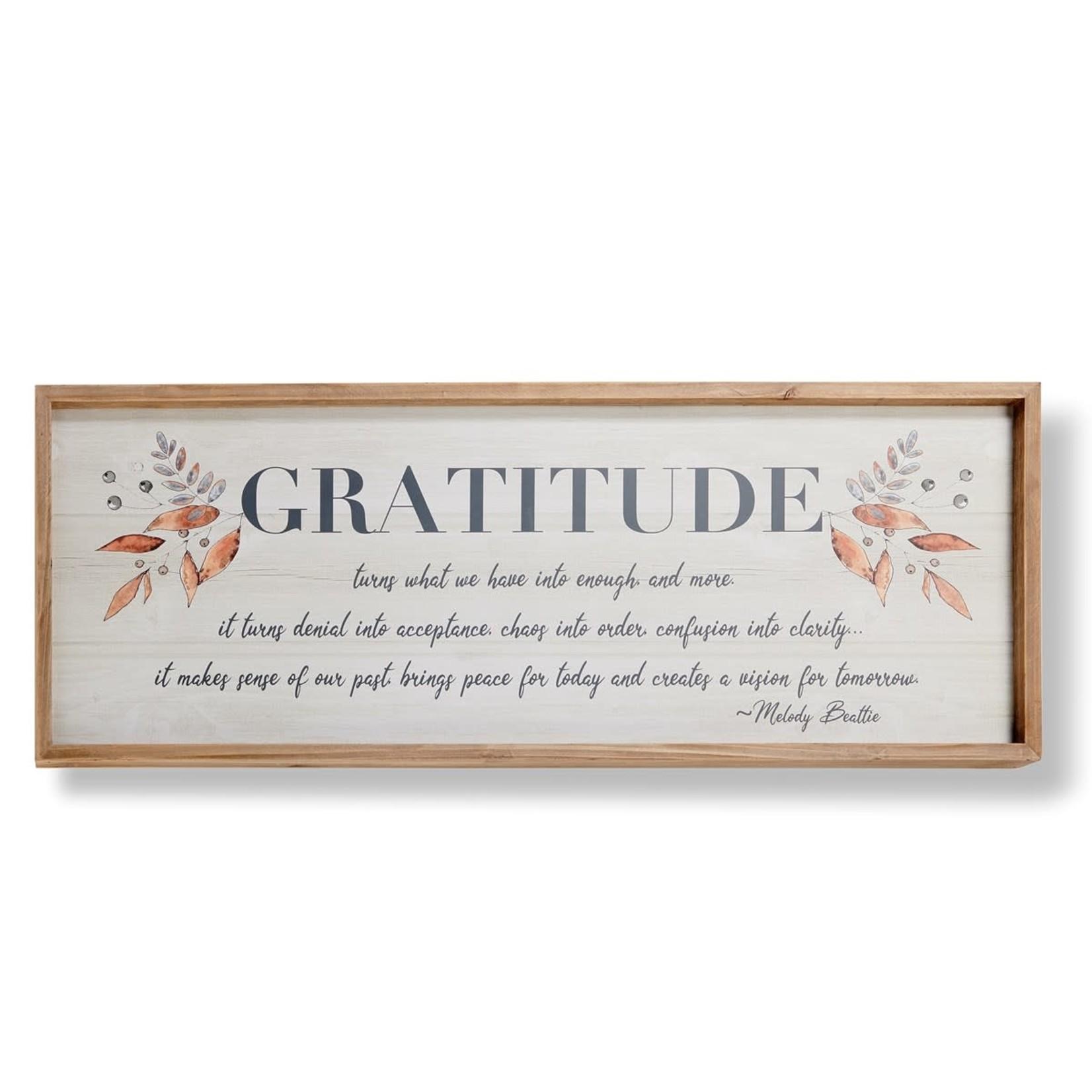 Framed Gratitude Sign
