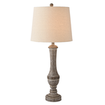 Distressed Grey Table Lamp