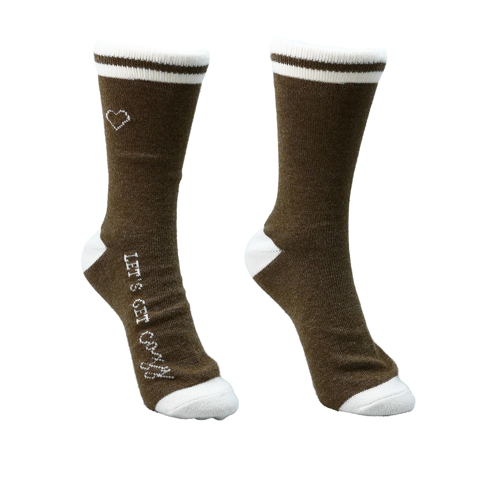 Ladies Crew Sock - Brown