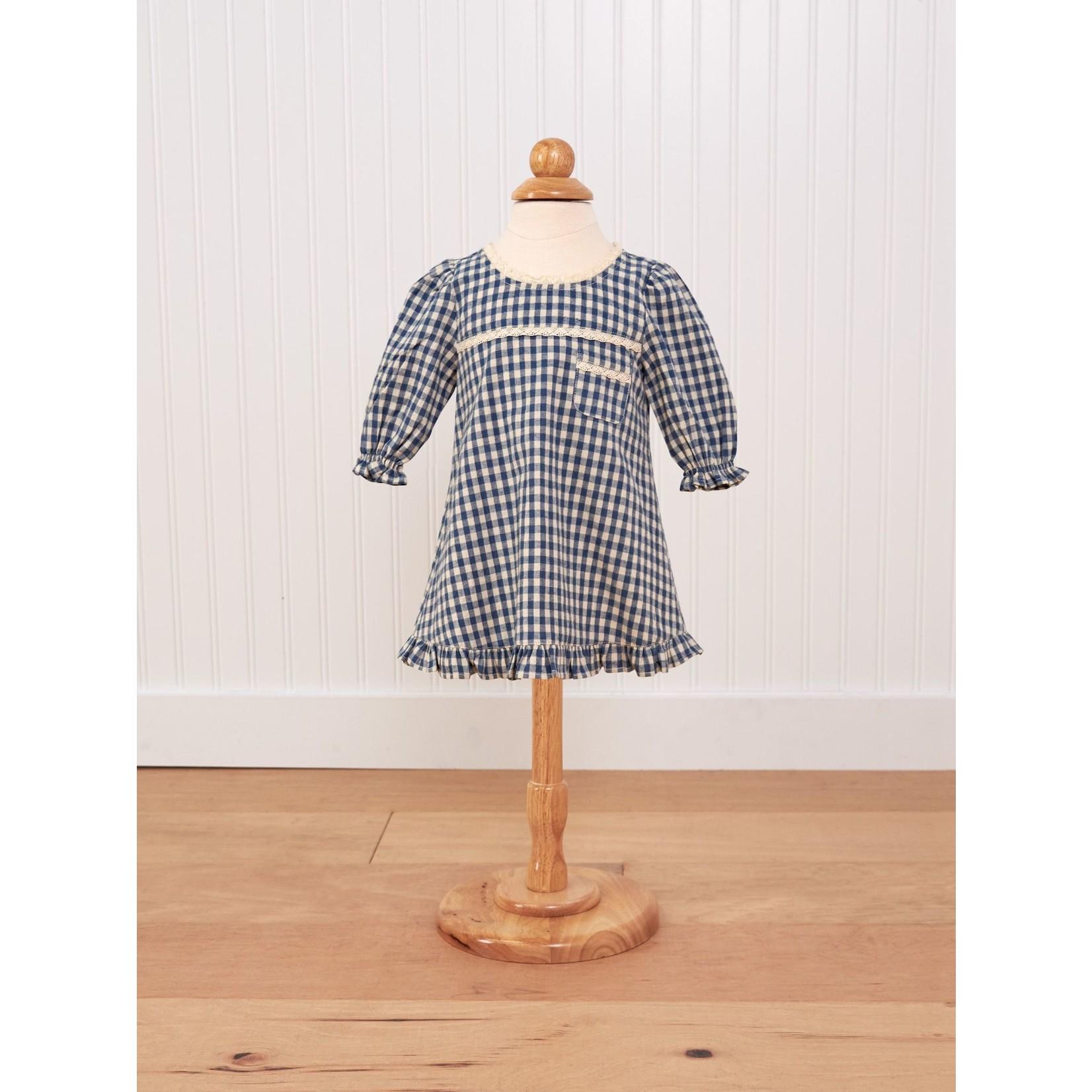 April Cornell Tanya Baby Dress - Teal/Ecru