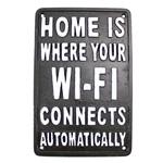 Cast Iron Wifi Sign