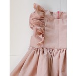 The Kingsley - Ruffle Bow Dress - Rose