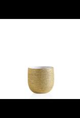 Torre & Tagus Brava Gold Spun Vase Small