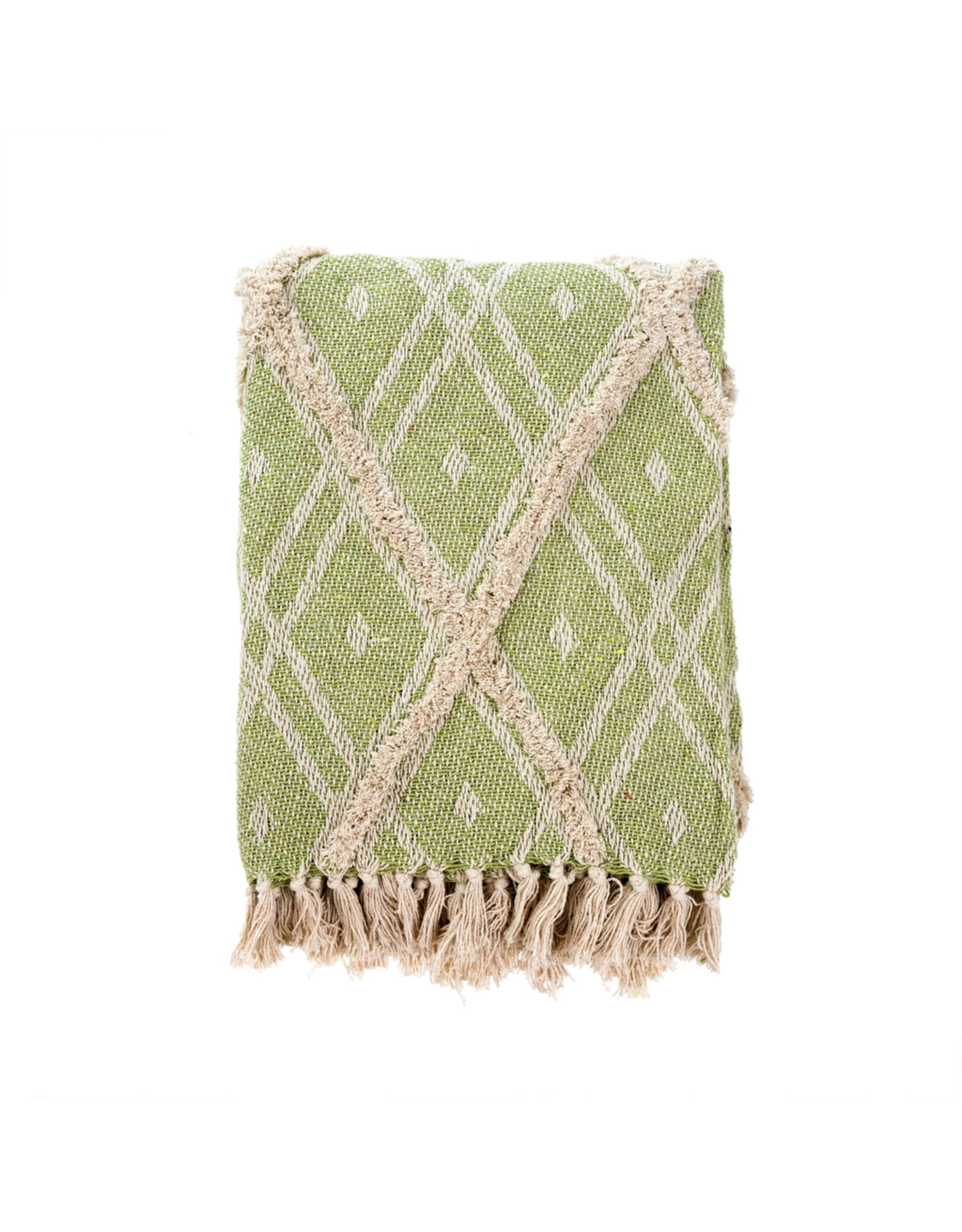 Tufted Tangier Green Throw