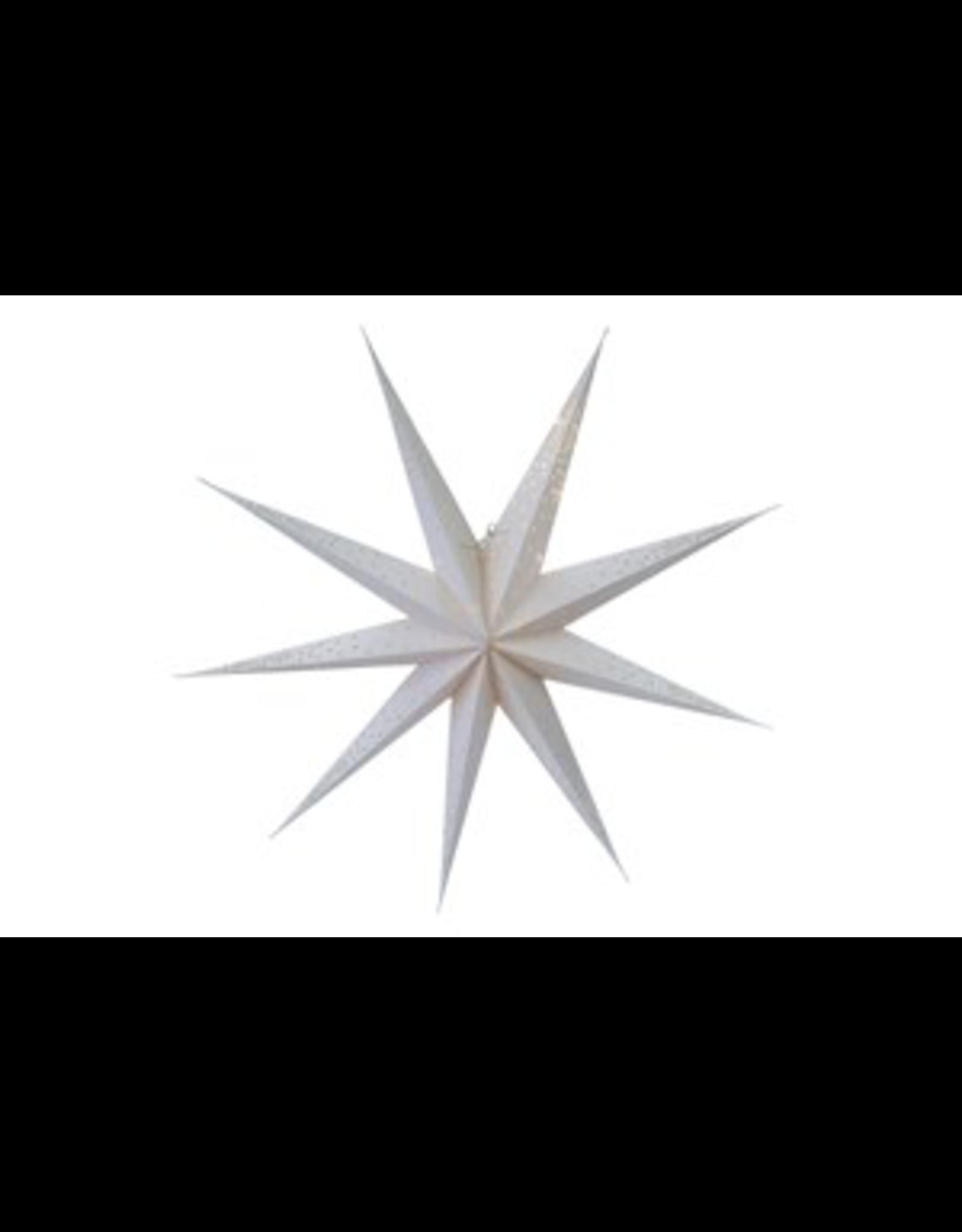 indaba Glitter paper star, sliver L