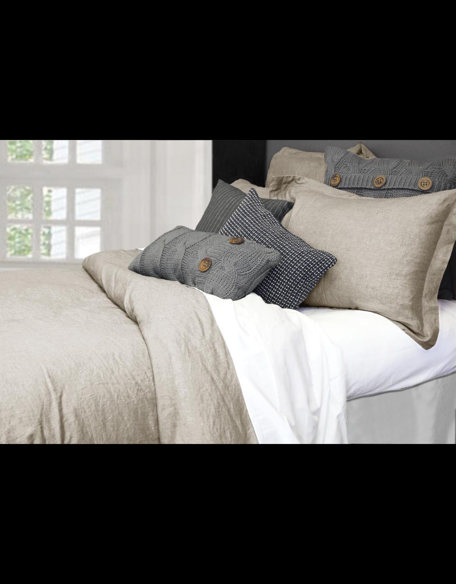 Alamode Morgan Linen Duvet Cover Queen - Natural