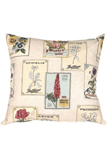 Pillow Decor Vintage Seed Packet Pillow 20x20