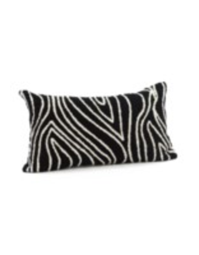 Bonavista Kelly Embroidered Cushion Black 12x22