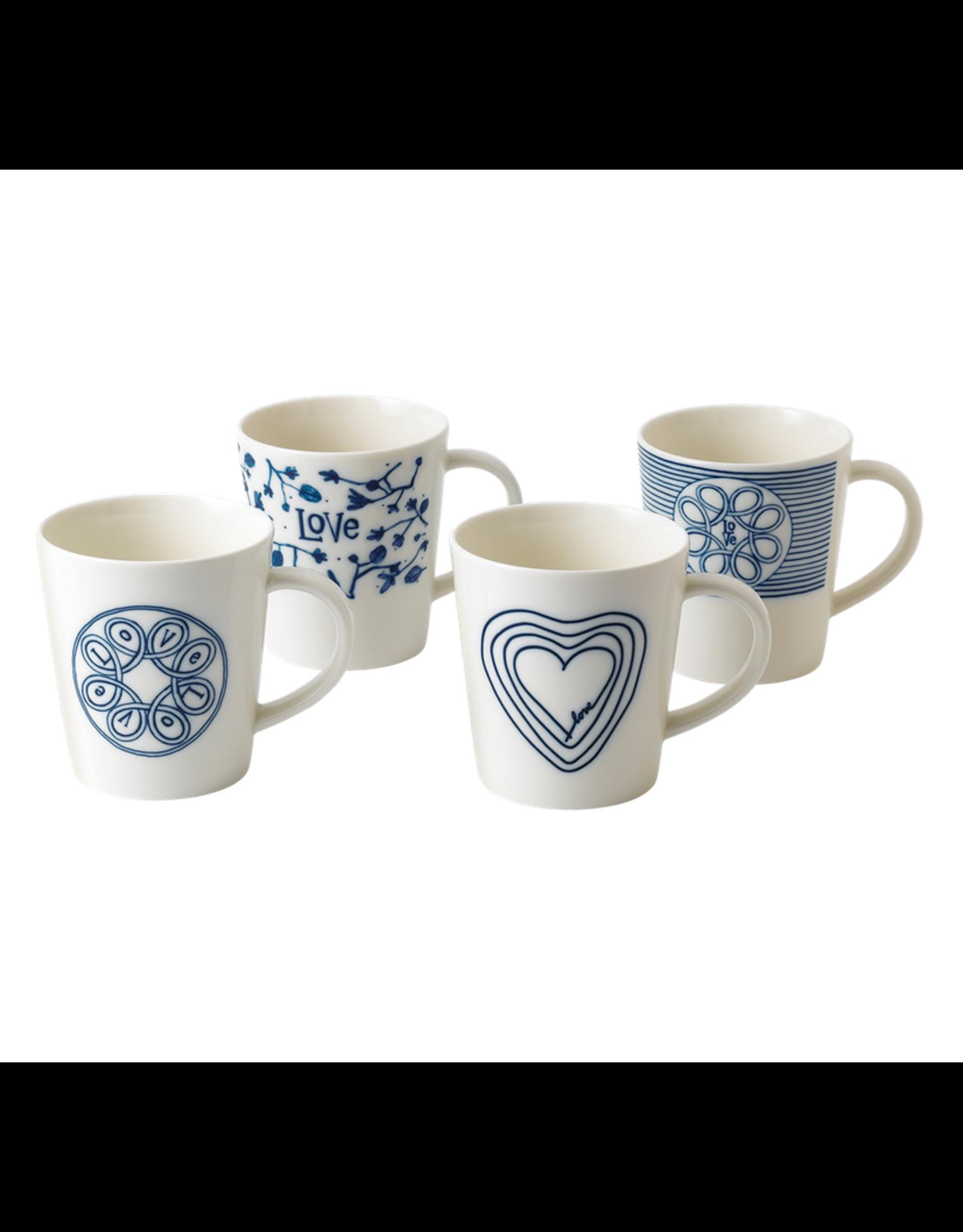 WWRD ED Blue Love Mugs Set of 4