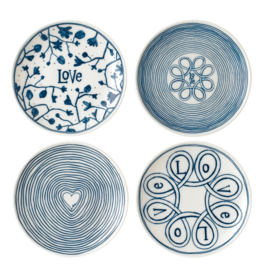 WWRD ED Blue Love Accent Plates Set/4