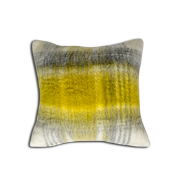 Alamode Mohair Lennox Cushion with feather filler