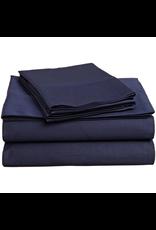 Cuddle Down Impressions Solid Pillowcase Pair, Queen #49 MARINE