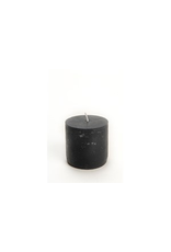 Pine Center Candle Pillar Rustic Black-S