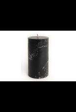 Pine Center Candle Pillar Rustic Black-T