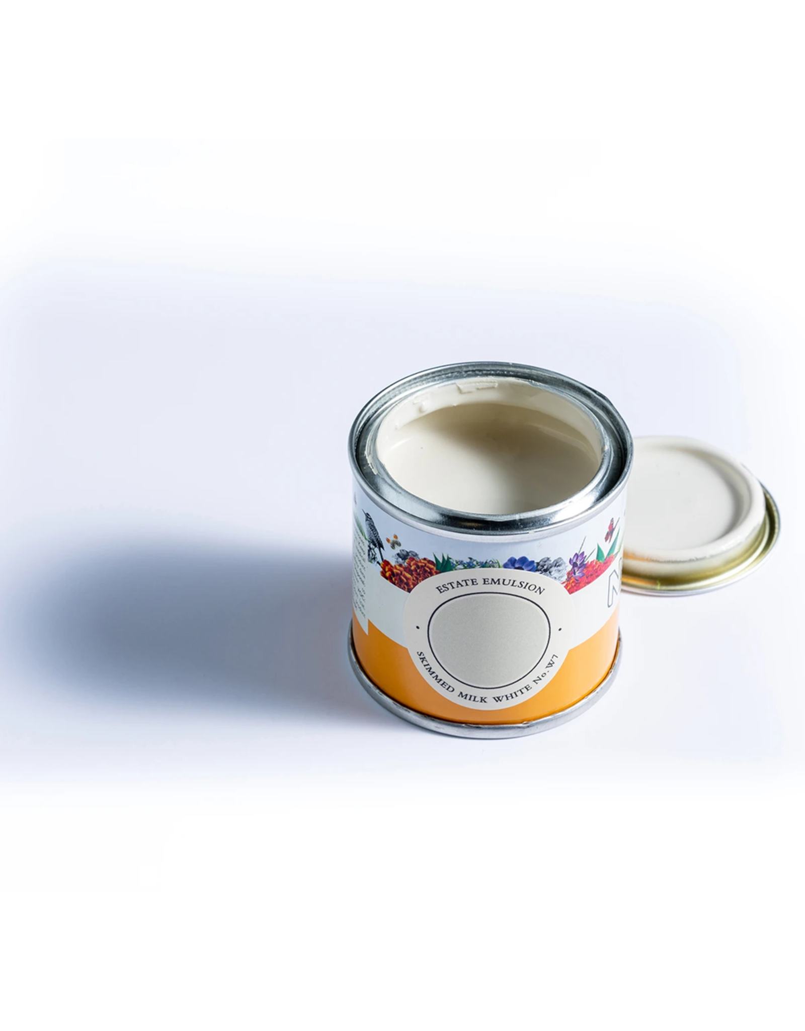 Farrow and Ball 100ml Sample Pot NHM Skimmed milk White No.W7