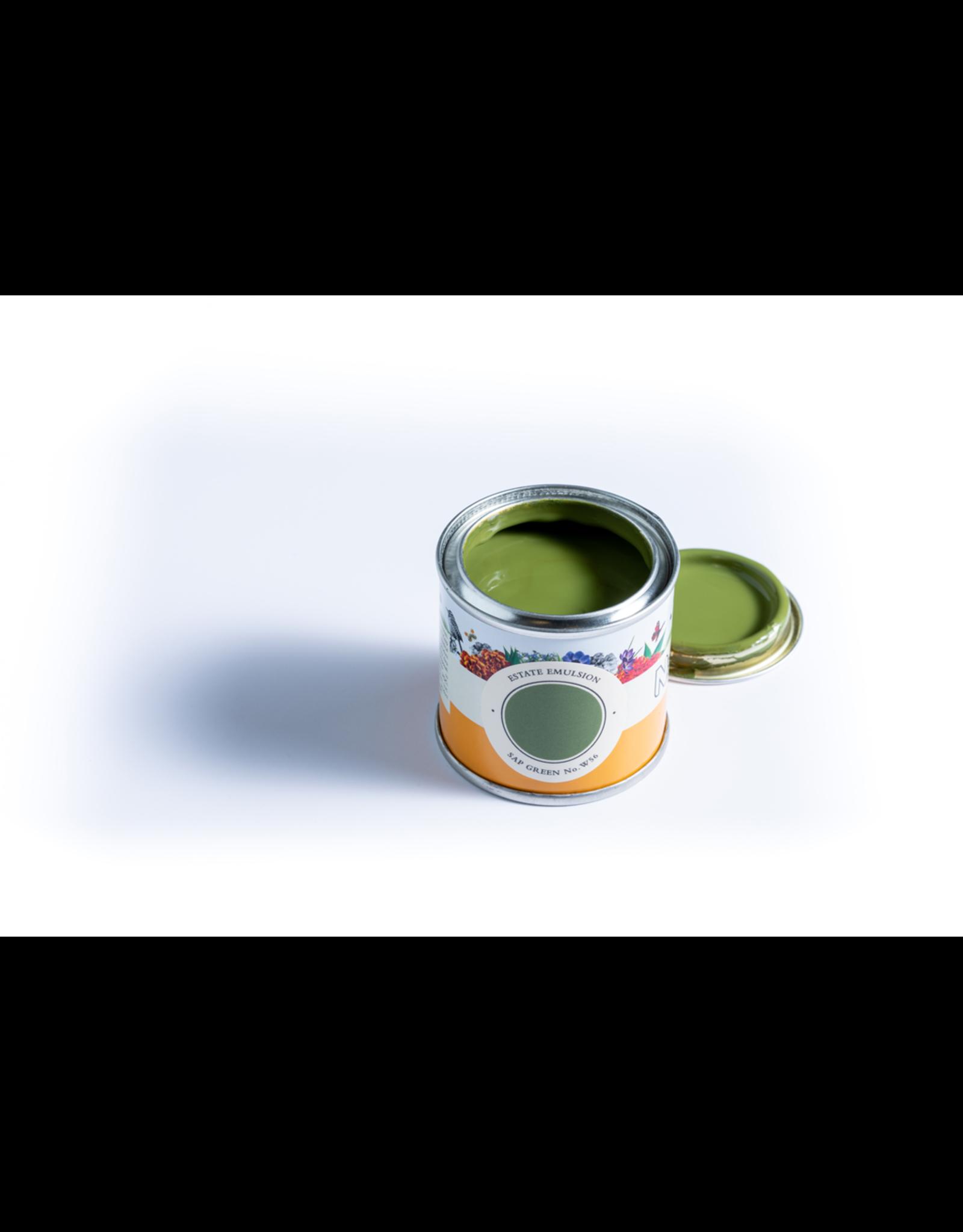 Farrow and Ball 100ml Sample Pot NHM Sap Green No.W56