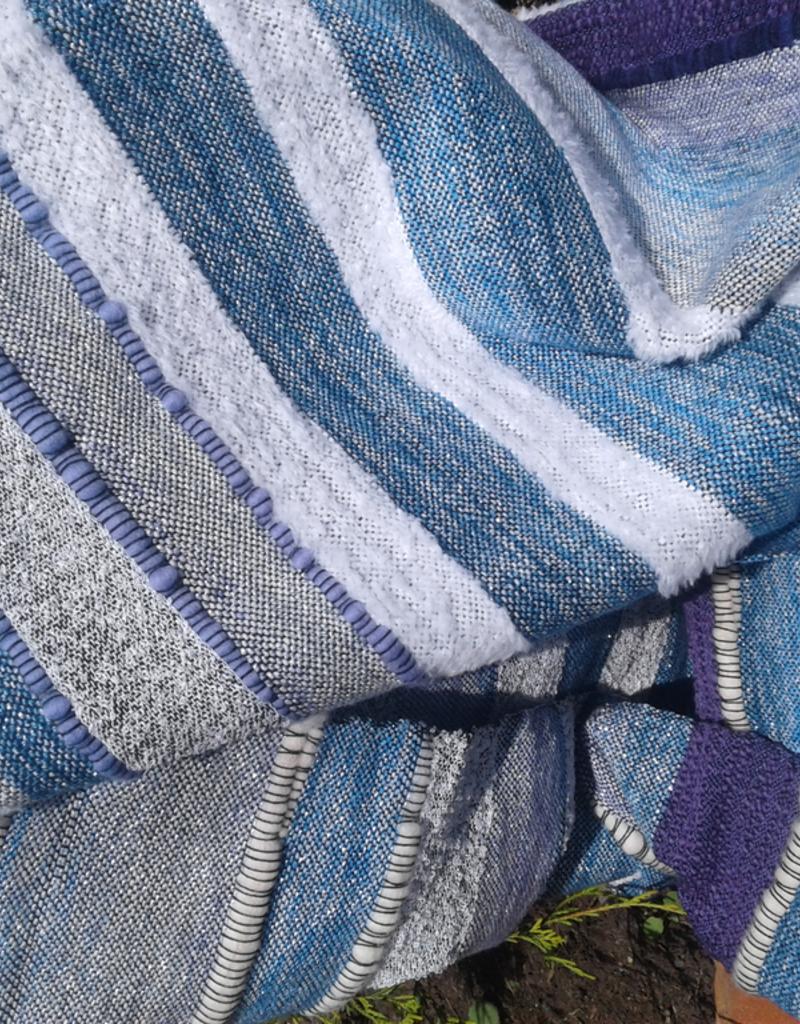 Tara Roblin Tara Roblin Cushion Cover 16x16  Tide:  shades of blue, purple and silver