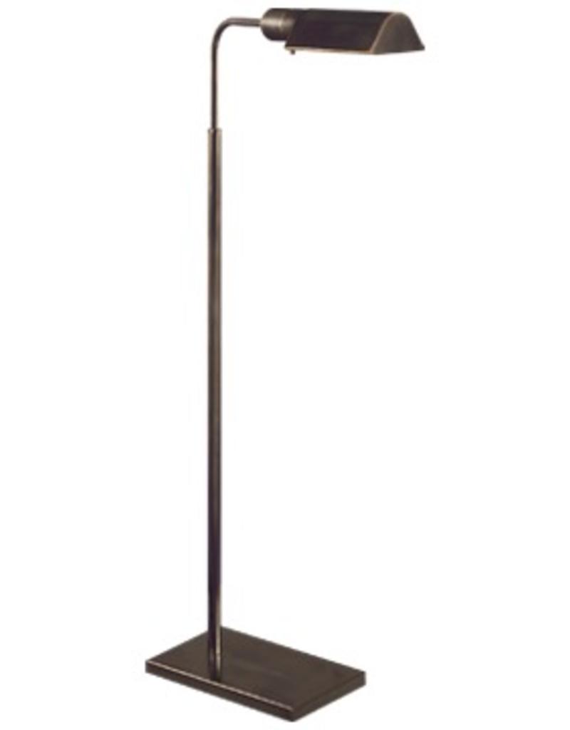 Visual Comfort Studio Swing Arm Floor Lamp in Hand-Rubbed Bronze