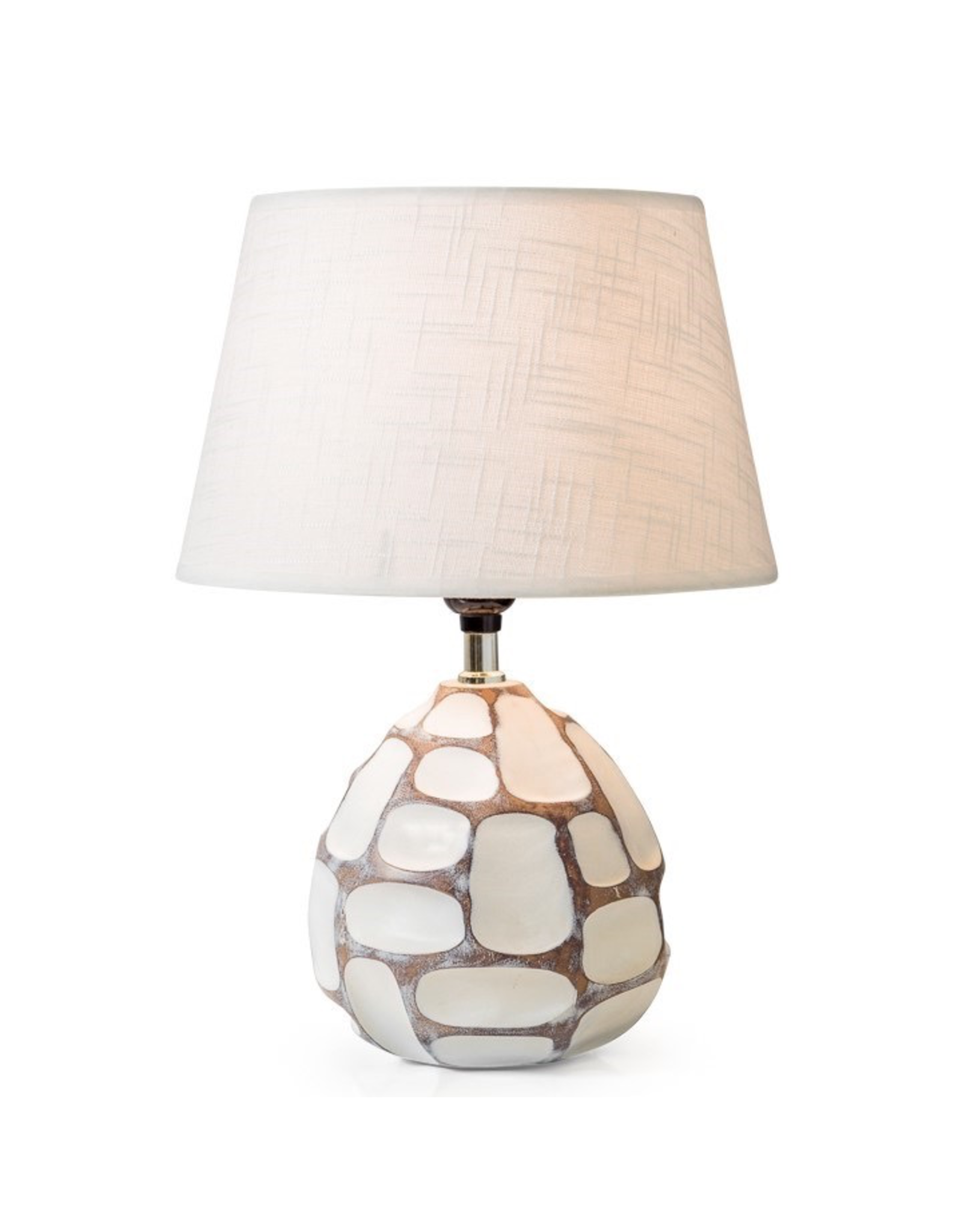 Torre & Tagus Carved Patch Resin Accent Lamp